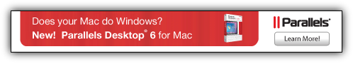 Parallels Desktop 6 for MAC Coupon Code $10 Discount